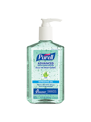 3143-0074 - PURELL® SKILCRAFT® Advanced With Aloe Hand Sanitizer - Gel -12 fl oz Pump Bottle