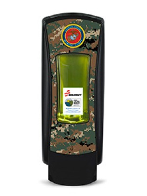 3141-0055 - GOJO® SKILCRAFT® ADX-12™ Dispenser - Black Featuring U.S. Marine Corps Graphics