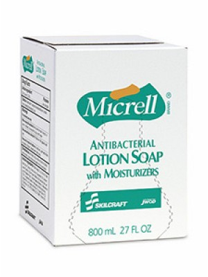 3143-0061 - MICRELL® SKILCRAFT® Antibacterial Lotion Soap - 800 mL Refill