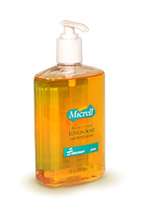 3143-0064 - MICRELL® SKILCRAFT® Antibacterial Lotion Soap - 12 fl oz Pump Bottle