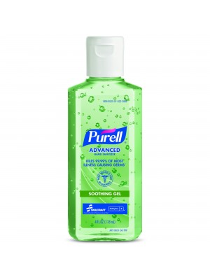 3143-0073 - PURELL® SKILCRAFT™ Advanced Hand Sanitizer Soothing Gel - 4 fl oz Flip Cap Bottle