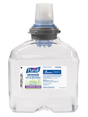 3143-0136 - PURELL® SKILCRAFT®Advanced Hand Sanitizer Foam - 1000 mL TFX™  Refill