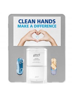 3141-0137 - PURELL® ES8 Floor Stand Hygiene Bracket - Silver