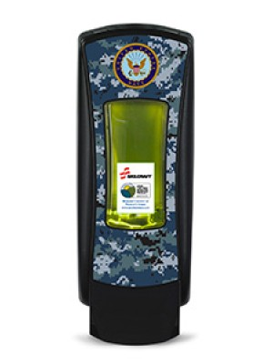 3141-0053 - GOJO® SKILCRAFT® ADX-12™ Dispenser - Black Featuring U.S. Navy Graphics