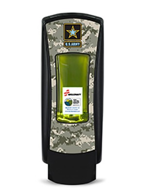3141-0054 - GOJO® SKILCRAFT® ADX-12™ Dispenser - Black Featuring U.S. Army Graphics