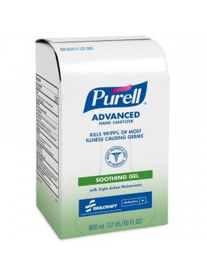 3143-0071 - PURELL® SKILCRAFT™ Advanced Hand Sanitizer Soothing Gel - 800 mL Refill