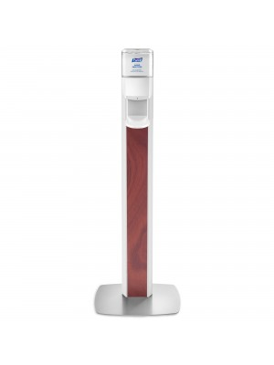 3141-0135 - PURELL® ES8 Floor Stand with Dispenser - Maple