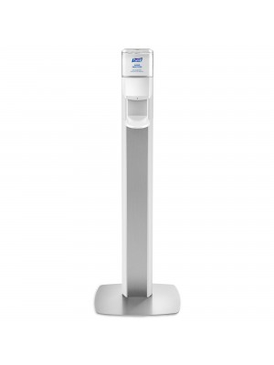 3141-0136 - PURELL® ES8 Floor Stand with Dispenser – Silver/White